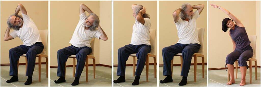 yoga sur une chaise r seau de yoga. Black Bedroom Furniture Sets. Home Design Ideas