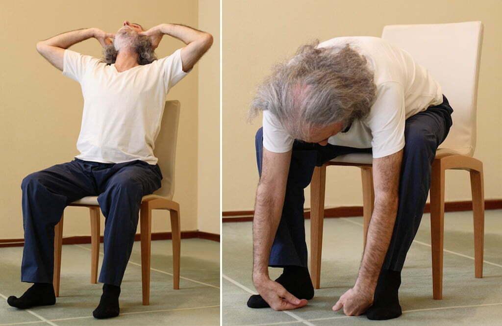 Yoga en una silla yoga en red for Sillas plegables para yoga