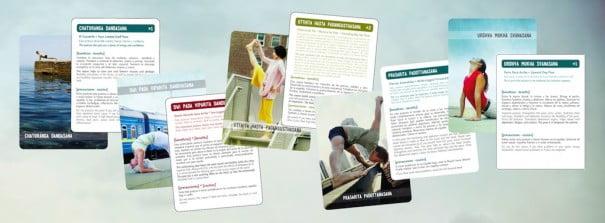 Cartões de ioga