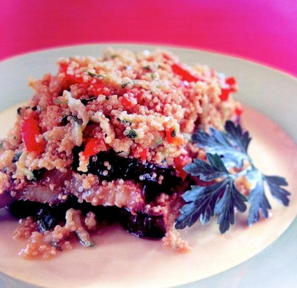 Assado de quinoa