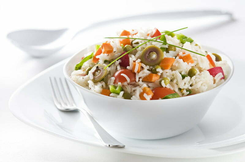 Recetas de cocina vegetariana ficha 12 cereales yoga - Ensalada de arroz light ...