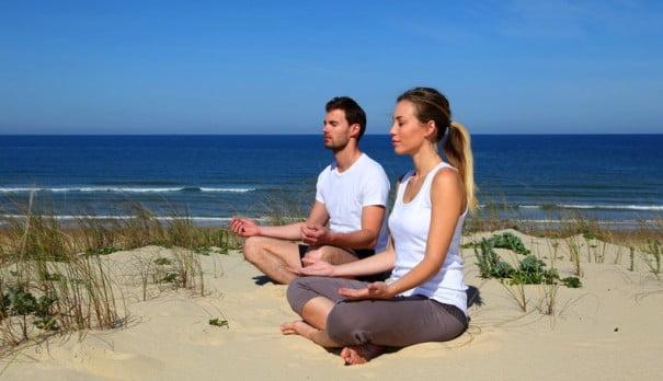 Пляж йога