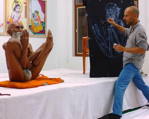 Valerio gentile pintor yoga
