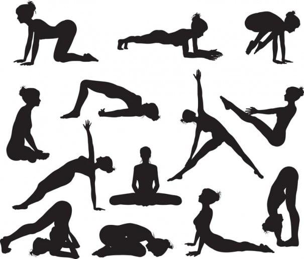 Yoga siluetas