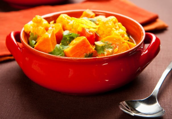 Curry verduras