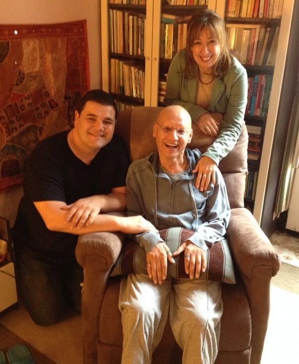 Habib junto a David Romera y Mayte Criado