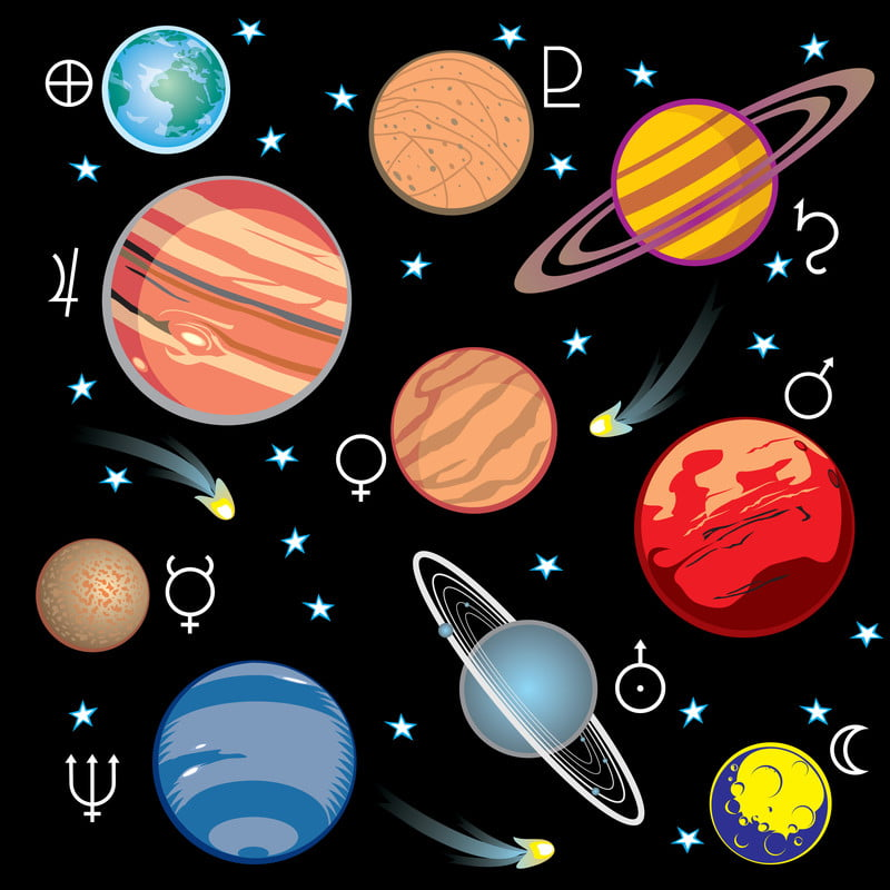 the 9 planets clip art - photo #30