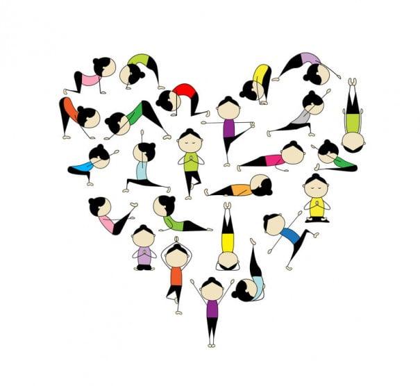 Coração de ioga