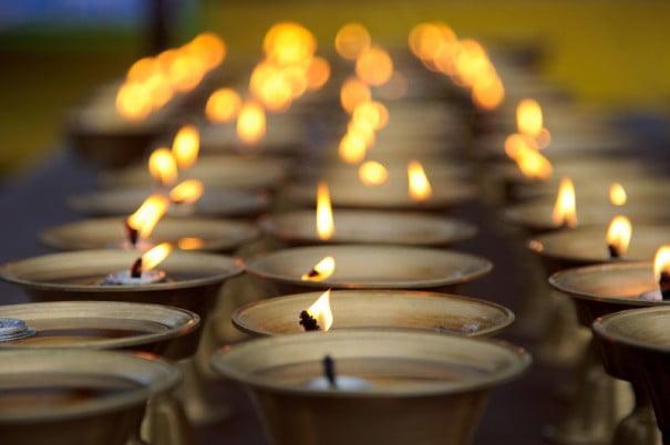 iluminacion velas