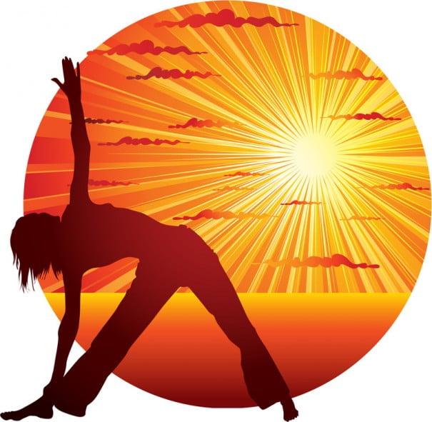 yoga atardecer