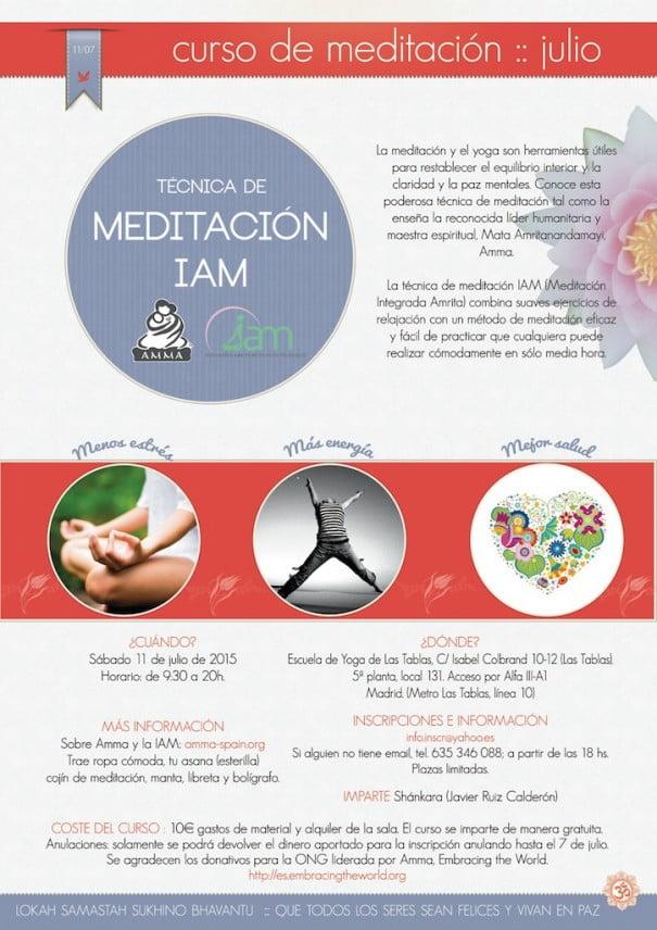 Cartel meditacion IAM