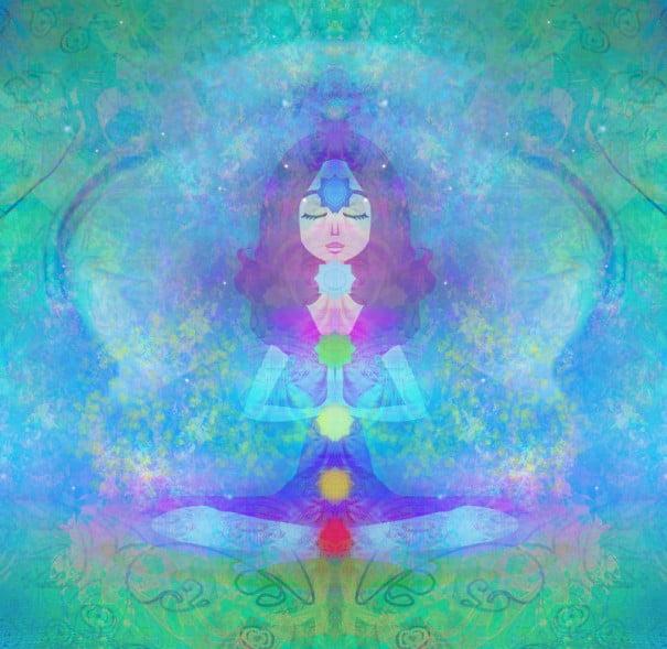yoga ilustracion chacras