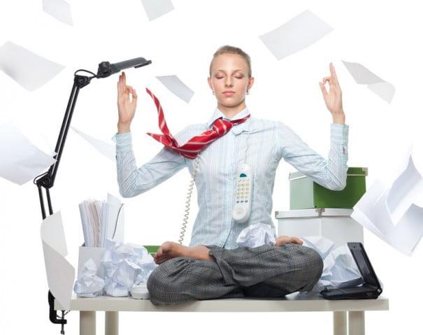 relajarse en oficina