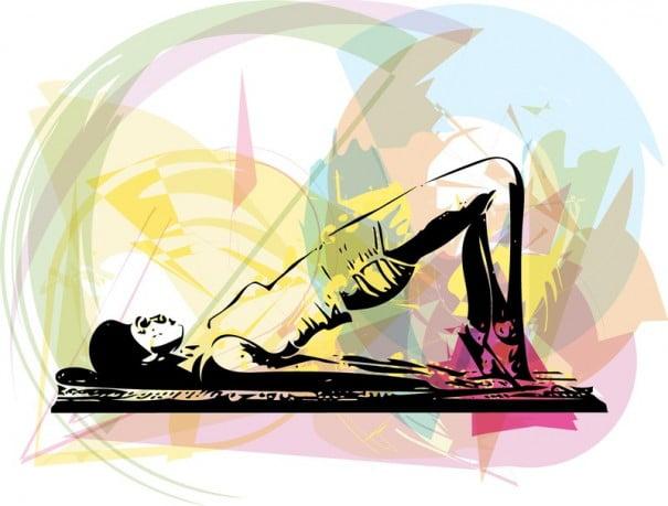 Ilustração de ioga