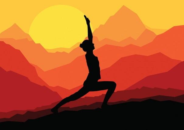 Illustrazione di yoga