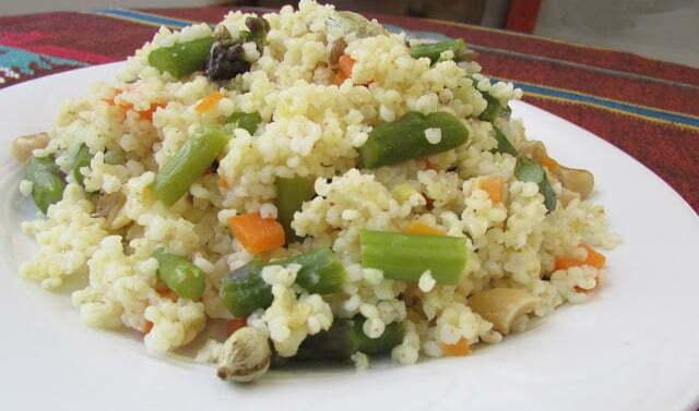 Végétarien recettes / millet aux légumes | Réseau de yoga
