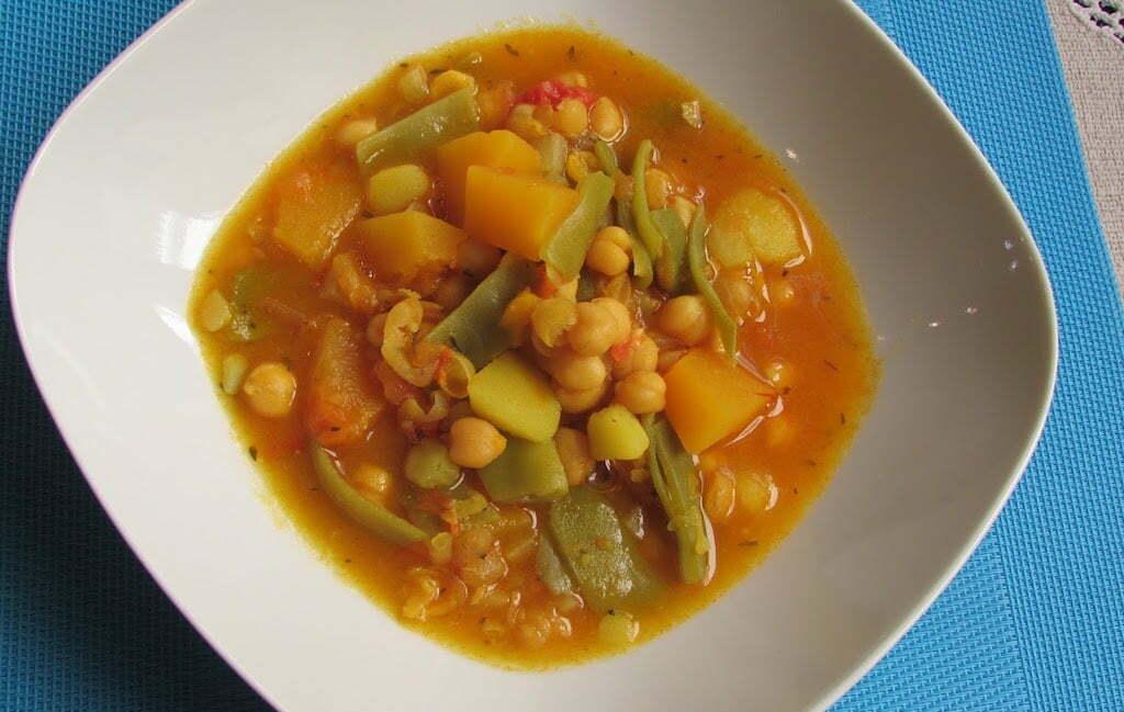 Recetas vegetarianas garbanzos con verduras olla gitana for Blogs cocina vegetariana