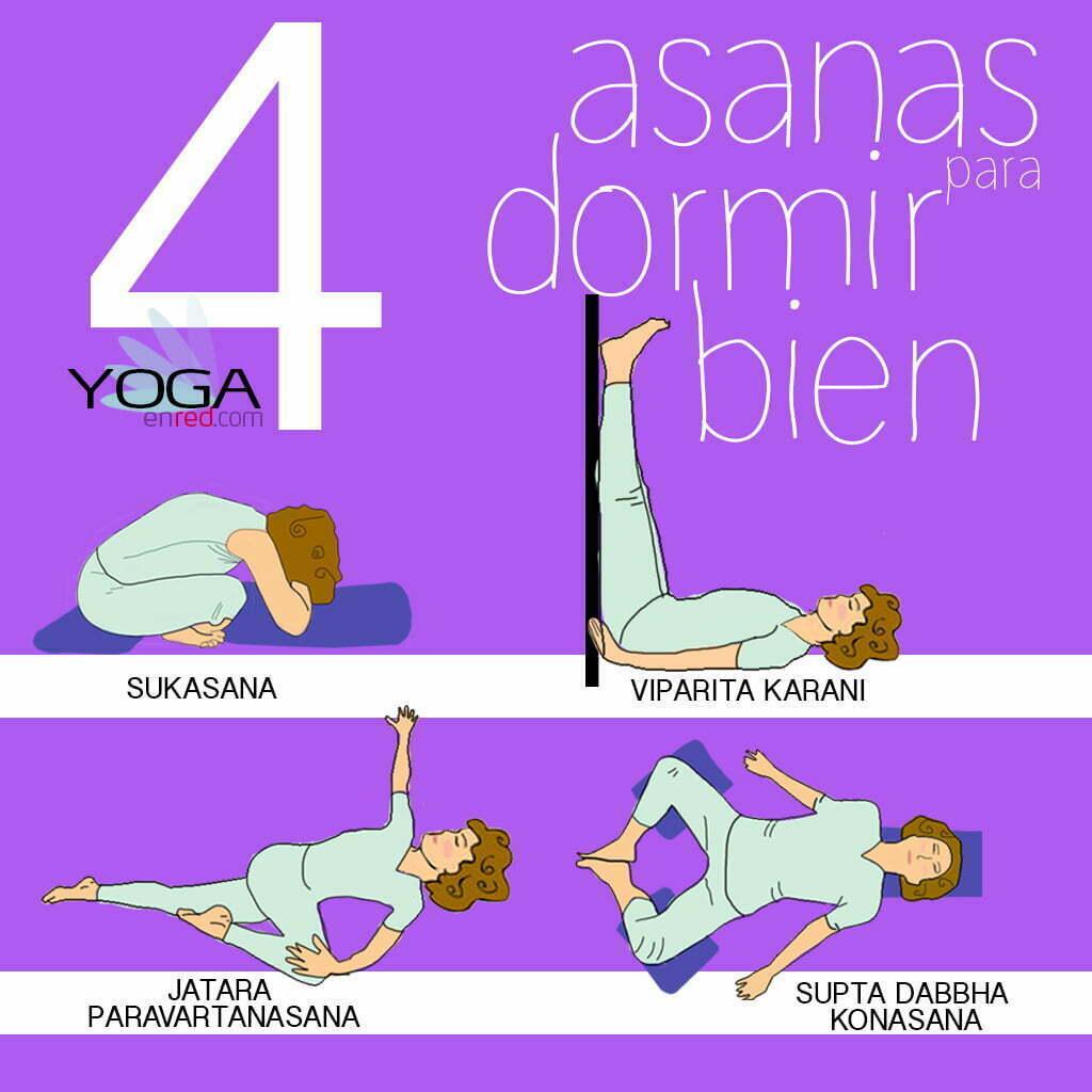 posiciones de yoga para poder dormir