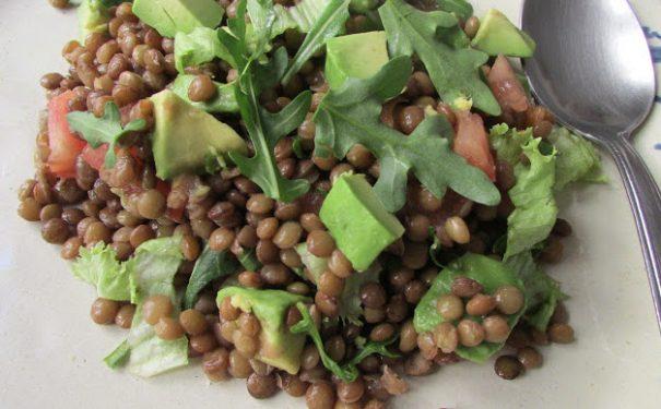 Ricette vegetariane insalata di lenticchie e avocado rete di yoga