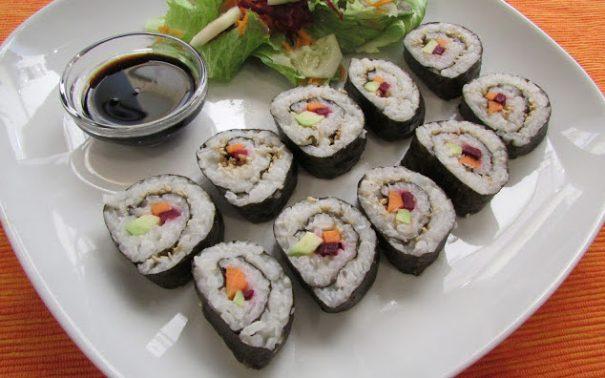 Recetas vegetarianas con alga nori