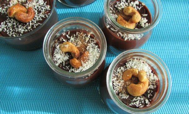 crema de chocolate. Recetas vegetarianas